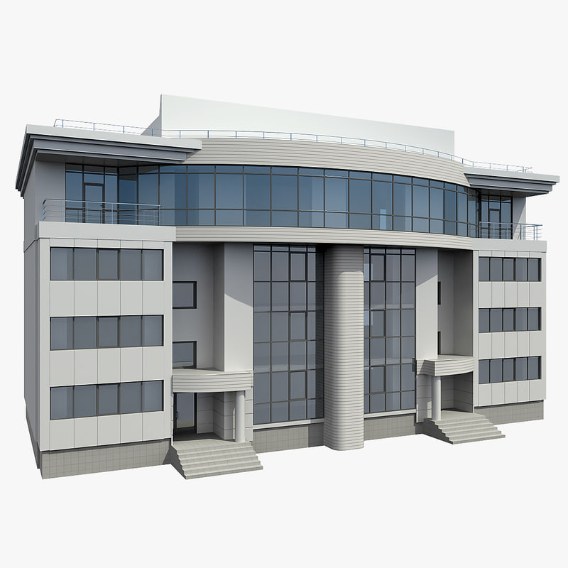 3d office building model for Build house online 3d free