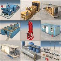 3d land rig elements
