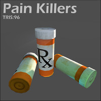 3d pain killer object