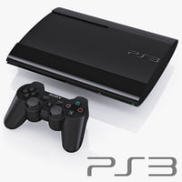 Sony PlayStation 3 Super Slim and DualShock controller sixaxis
