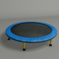3d model trampoline modeled