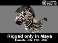 3d model zebra