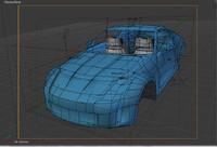 blender blue sports car