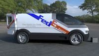 3d model concept delivery van