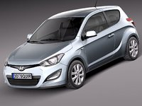 hyundai i20 2013 3door 3d model