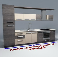 kitchen furnitures 03 3ds