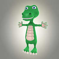 3d cool cartoon crocodile model