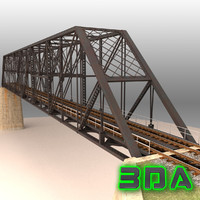 Rail bridge two track truss