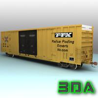 Railroad boxcar A606 TTX