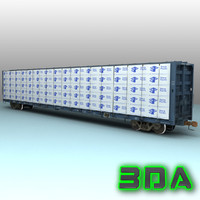 Railroad centerbeam flatcar F483 NOKL