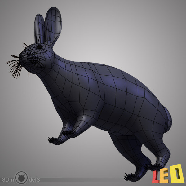 3d rabbit - Rabbit... by leo3Dmodels