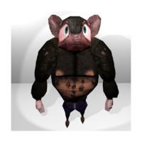res rat character 3d model