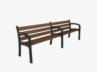 3d model santa cole boston bench