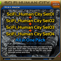 scifi human city pack max