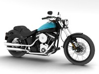 3d harley-davidson fxs softail blackline model