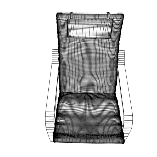 3d model ikea poang armchair chair. Black Bedroom Furniture Sets. Home Design Ideas