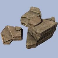 schist blocks 3d max