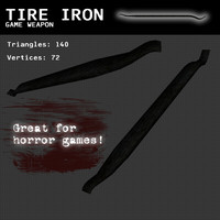 3d model tire iron weapon games
