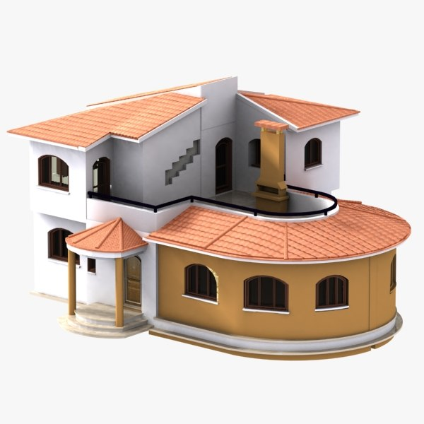 Hi poly cottages vol 1 max House 3d model