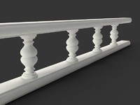 3d balustrade classic furniture model
