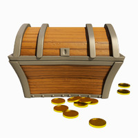 pirates treasure chest 3d model