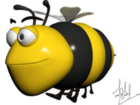 maya cartoon bee