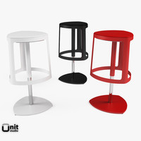 stool designed painted 3d model