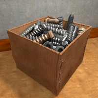 Box with Screws and Nails
