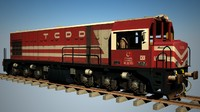 tcdd locomotive 3d model