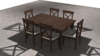 Dining Table and Chairs (Burdines)
