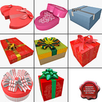 3dsmax gift boxes 3