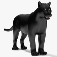 panther modelled 3d 3ds