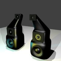 organic speaker 3d blend