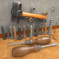 hammer screw 3d model