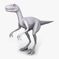 3d raptor dino model