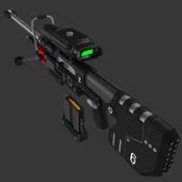 3d model halo 3 sniper rifle