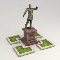 Low poly statue