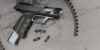 automatic pistol 3d max