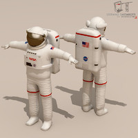 3d model of astronaut character