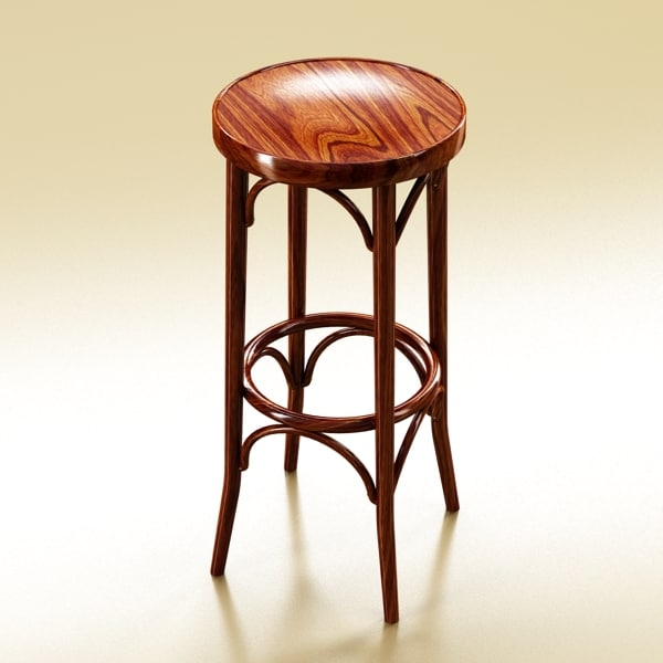 3d photorealistic bar stool model - Photorealistic Bar Stool... by VKModels