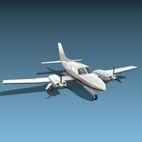 3d aircraft propeller cessna model