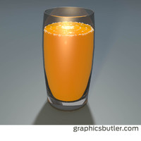 cinema4d glass orange juice