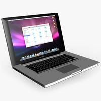 apple macbook pro 3d model