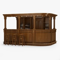 bar counter 3d model