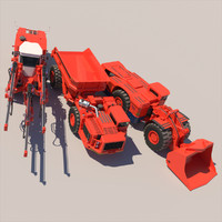 3d sandvik mining machines model