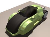 3d futuristic car concept