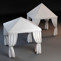 3d model of 2 partytents tent