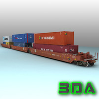 Railroad wellcar S635 BNSF
