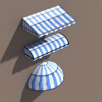 awning polys modelled 3d model