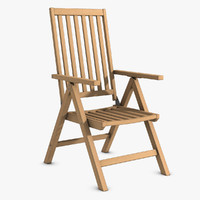 Reclining Wooden Chair